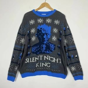 Game of Thrones Sweater XXL Silent Night King Ugly